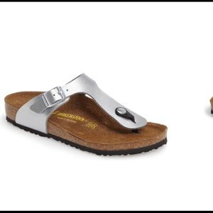 Birkenstock Gizeh Silver Toddler Kidd's Sandals  2